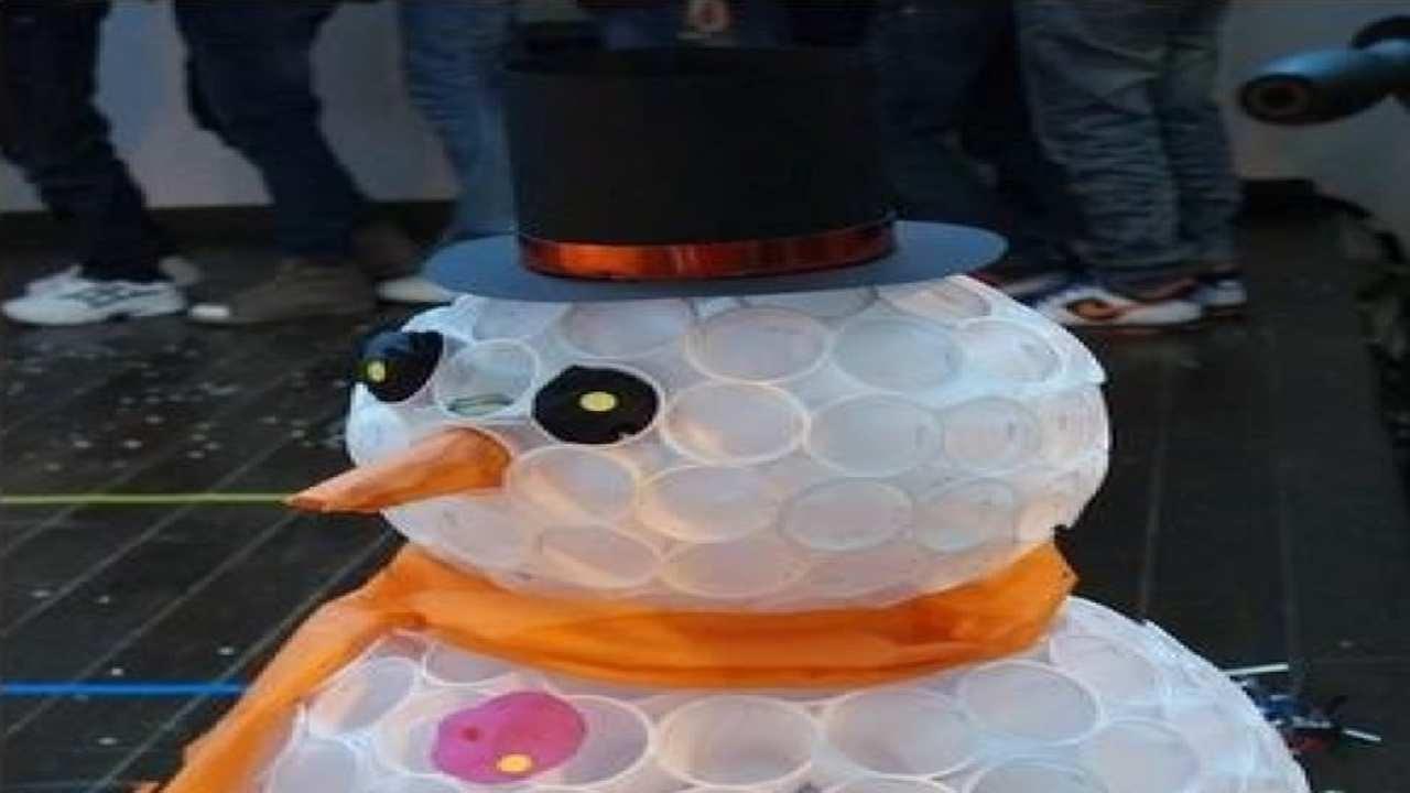 Снеговик из стаканчиков своими руками видео фото 321
