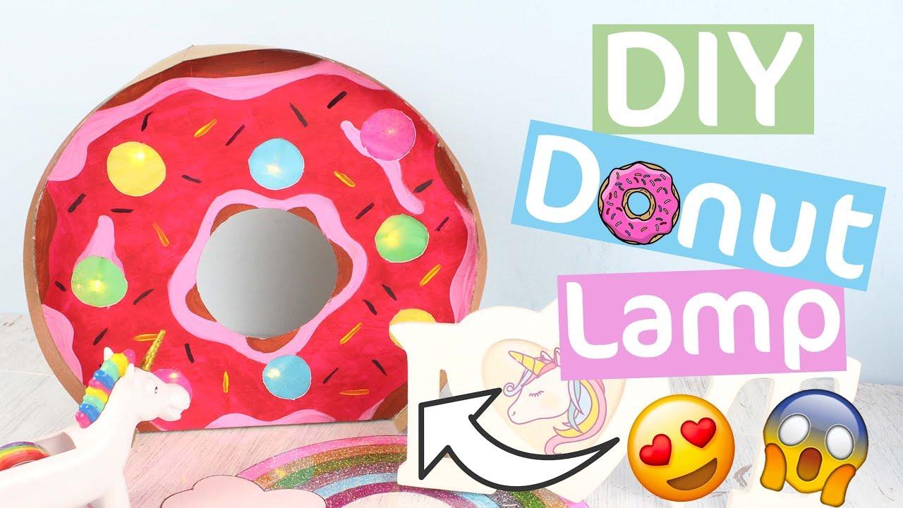 Diy Room Decor Diy Donut Lamp Easy Diy Room Decor Craft Idea
