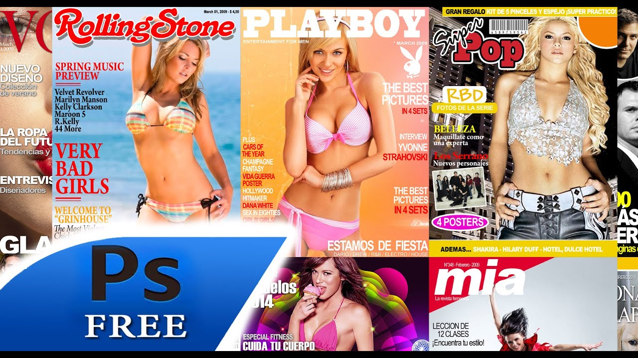 25 PSD Revistas plantillas para photoshop - YouTube