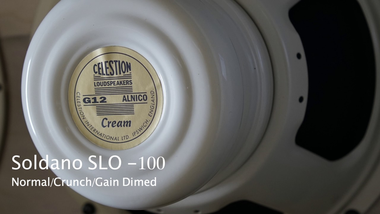 celestion alnico cream soldano slo 100 playthru youtube. Black Bedroom Furniture Sets. Home Design Ideas