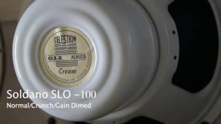 Celestion Alnico Cream - Soldano SLO-100 Playthru