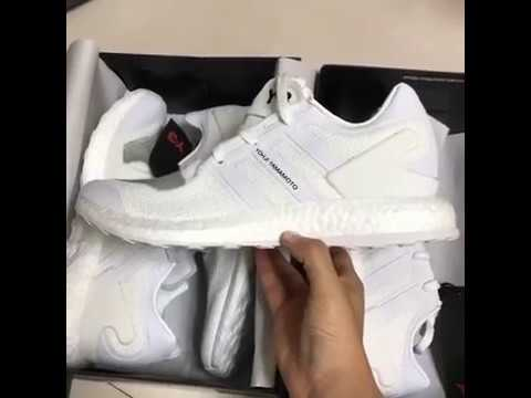 7c63098acde0 adidas Y-3 Pure Boost Triple White BY8955  PK VERSION  - YouTube