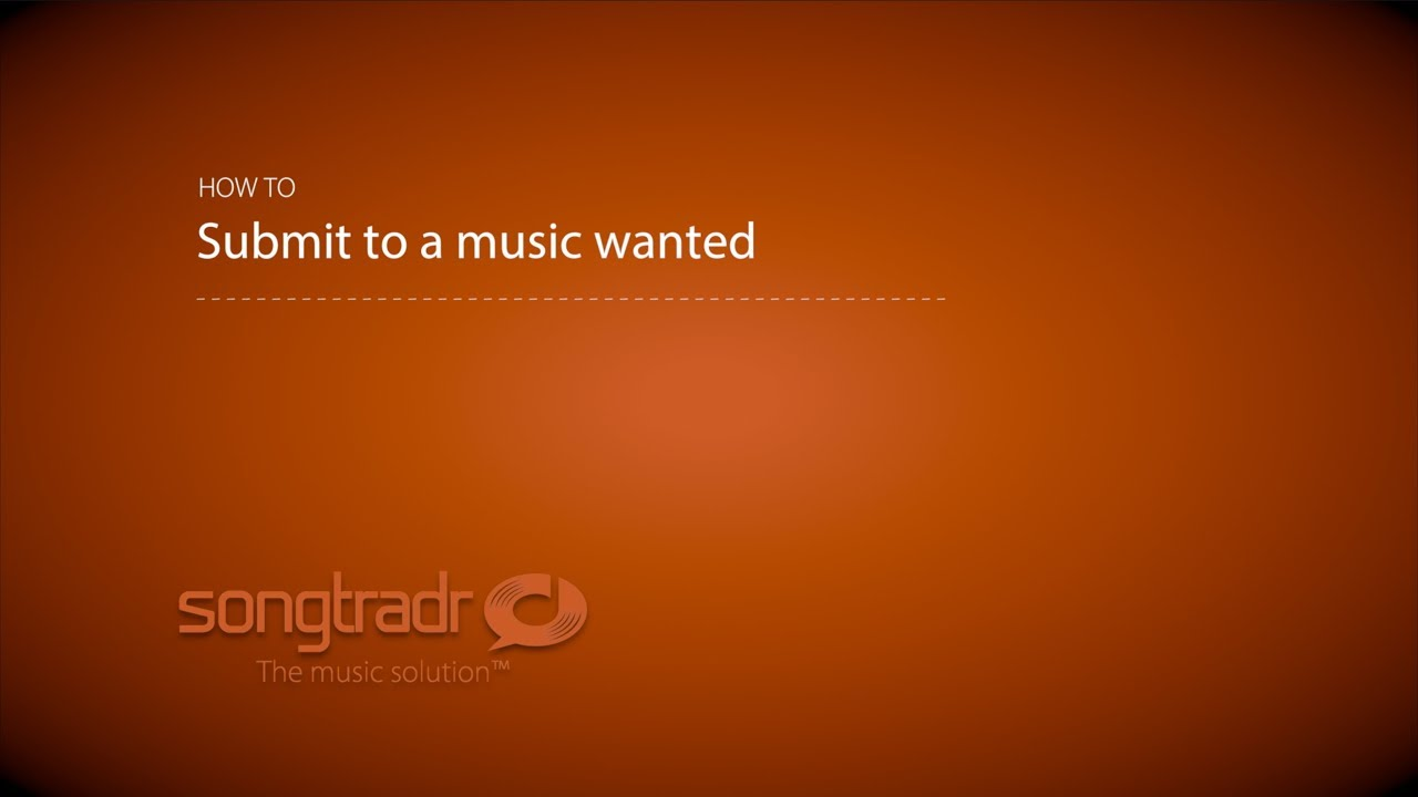Submit to Music Wanted – Songtradr Support