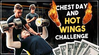 Zac VS Hot Wings Challenge   with Behzinga, David Laid & Elliot Burton