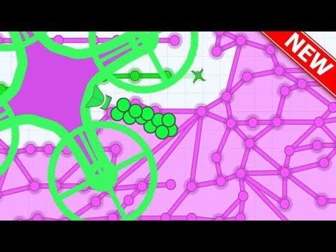 DIEP.IO + SPLIX.IO = DEFLY.IO!! // ALL SUPERPOWER ABILITES (New .io Game)