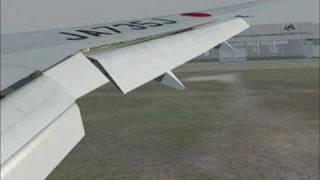FS2004 Japan Airlines 773ER RJBB-RJTT