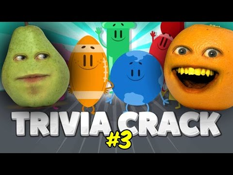 Annoying Orange and Pear play Trivia Crack #3: Butt Touchers