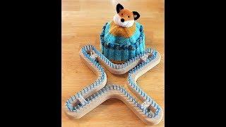 How to Loom Knit a Rib Brim Hat On the Universal X Loom
