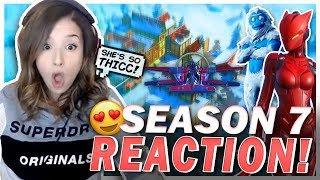 Poki\'s NEW CRUSH?! Reacting to Season 7 Fortnite!