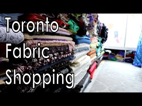 Toronto Fabric Shopping Vlog & Update!