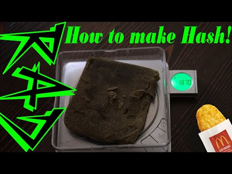 How to make Hash in the Oven at Home (Almost 20 grams of hash!) | Stoner Tips