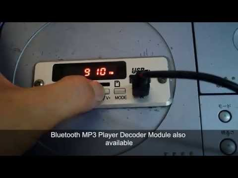 How to turn your old CD player to MP3 player with USB FM and bluetooth music