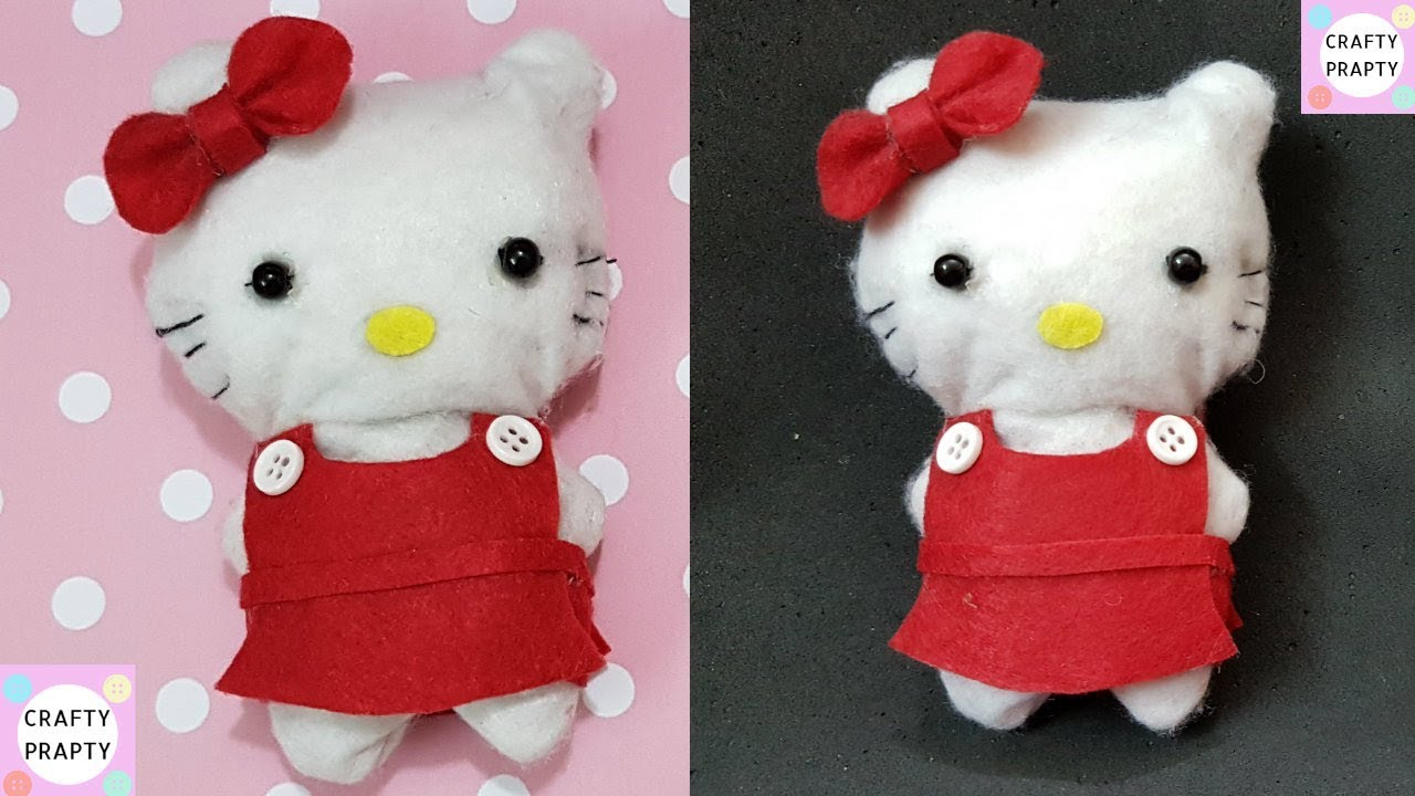 how to make hello kitty doll diy hello kitty plush how to. Black Bedroom Furniture Sets. Home Design Ideas