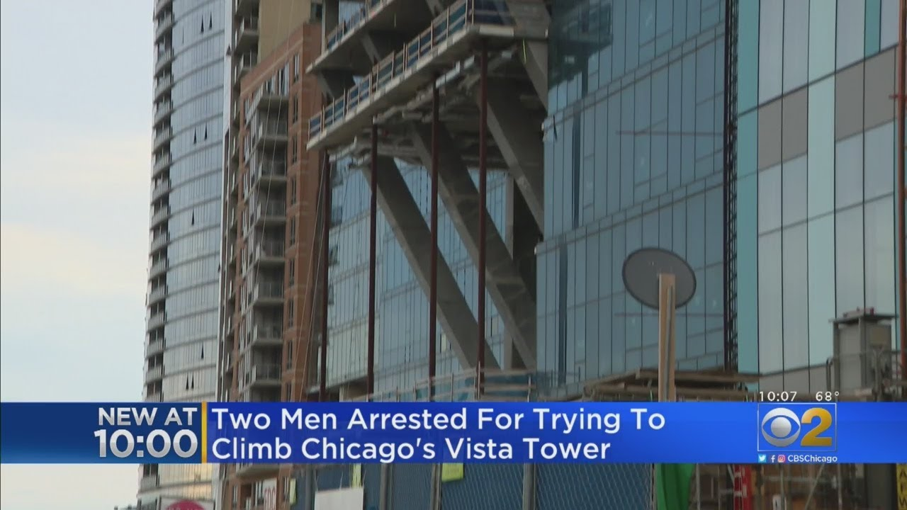 Chicago, Two Men Try to Climb Vista Towers
