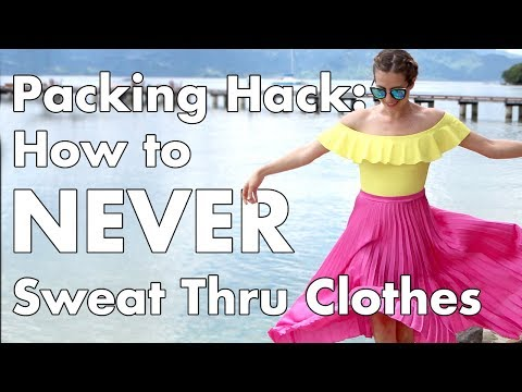How NOT to Sweat Through Clothes | Sweating life hack | Travel Tips & Tricks | How 2 Travelers