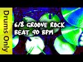 Download 6/8 Drum Loops - Groove Rock 90 BPM MP3 song and Music Video