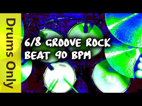 6/8 Drum Loops - Groove Rock 90 BPM