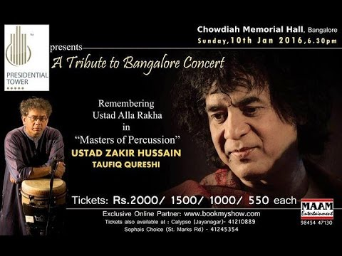 Ustad Zakir Hussain ( Masters of Percussion ) in Bangalore 2016
