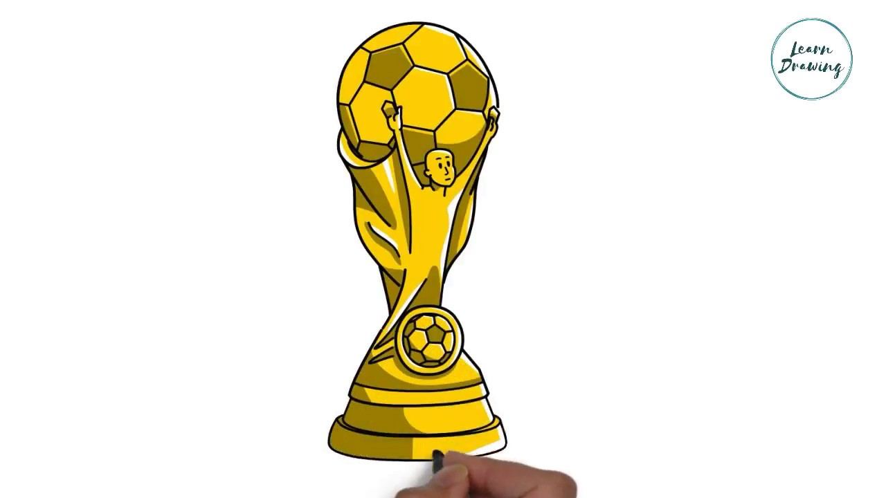How To Draw Fifa World Cup Trophy Step By Step Very Easy Drawing