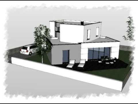 arteco 215 maison toute hauteur toit plat