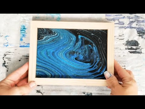 Dollar Store DIY Picture Frame Acrylic Pour Project