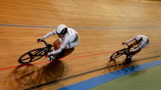women s team sprint gold final track cycling world cup cali colombia