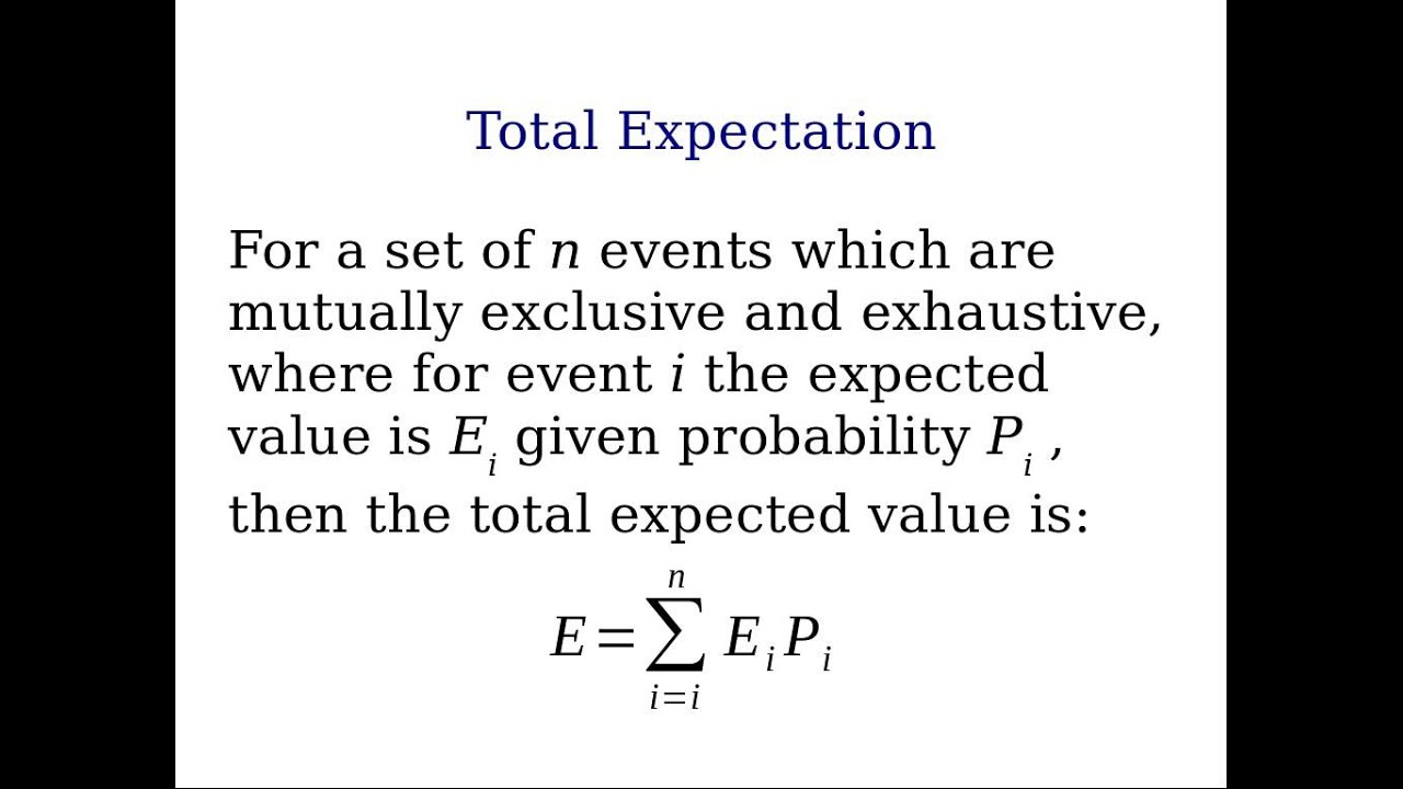Total Expectation Definition Statistics Examples 11 Youtube