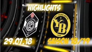 Highlights: Fc Lugano vs BSC Young Boys (29.07.18)