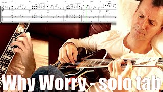 Why Worry guitar lesson tabs fingerstyle tutorial pdf