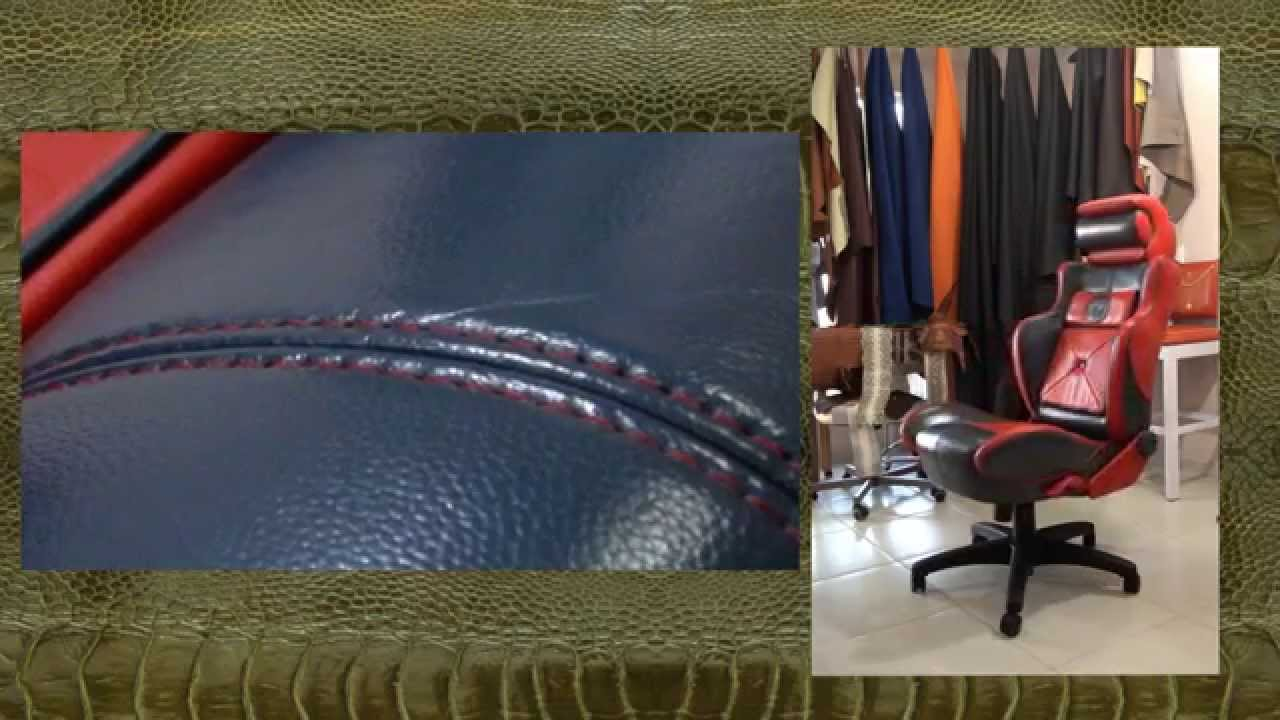 A Customized Office Chair in Leather - Basic Sewing, Seams and Trims