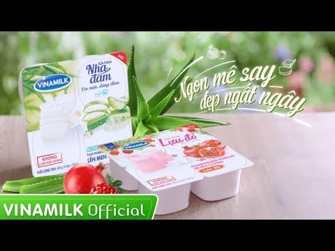 Quảng cáo Sữa chua Vinamilk Nha đam & Lựu đỏ – Ngon mê say, Đẹp ngất ngây