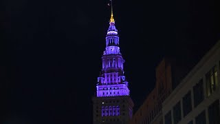 Terminal Tower goes purple for World Elder Abuse Awareness Day