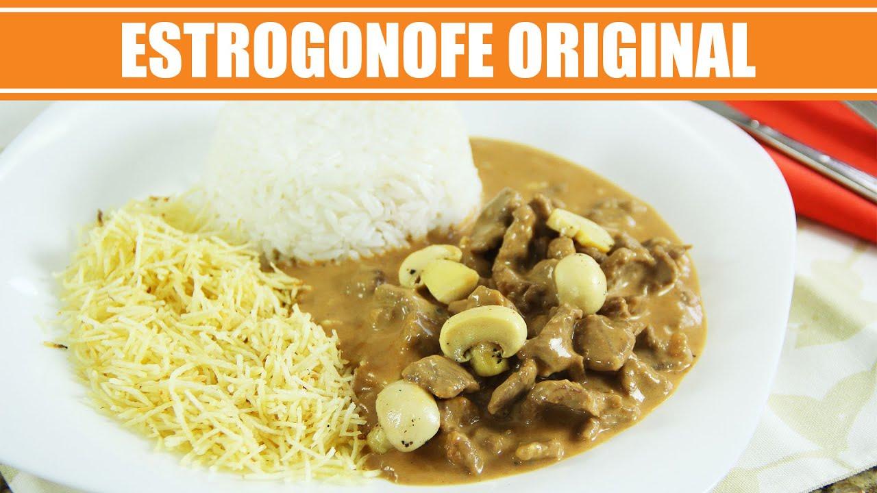 Receita de Estrogonofe Original - Strogonoff Original