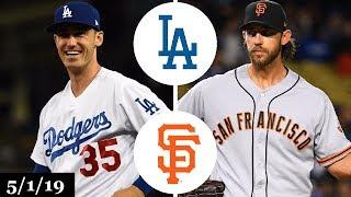 Los Angeles Dodgers vs San Francisco Giants Highlights   May 1, 2019