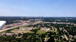 Landing at Tulsa International Airport from South