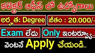 Latest Recruitment In Collector Office   Junior Assistant Posts 2018   Omfut Tech And Jobs