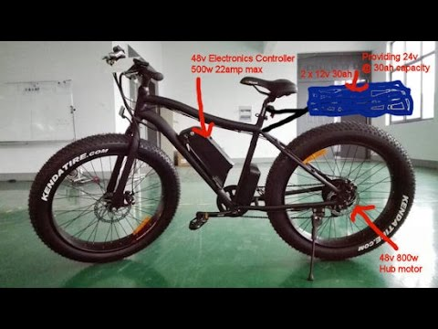 UK Street Legal E-Bike 48v 500-800w li-ion Fatboy Design