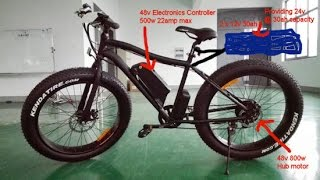 UK Street Legal E-Bike 48v 500-800w li-ion Fatboy Design
