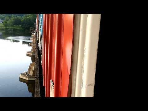 Hudson River railroad bridge near...