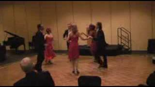 Salsa Rueda Dance Performance at Masquerade Ball Gala near Houston, Texas (April 4, 2008)