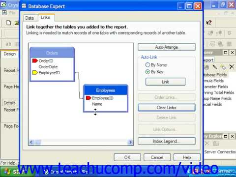 Crystal Reports Tutorial Linking Multiple Tables Business Objects Training  Lesson 4 2