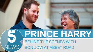 Prince Harry records song with Bon Jovi at Beatles' Abbey Road Studios - behind the scenes | 5 News