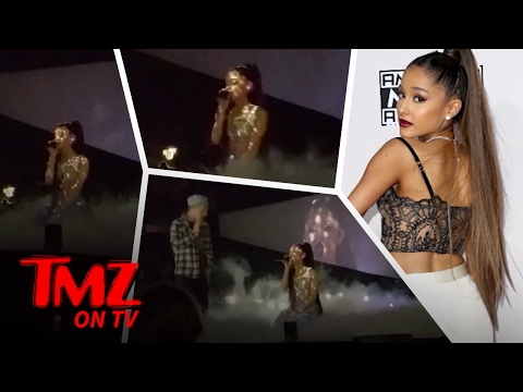Ariana Grande Fan Gets A Little To Close To Ariana  TMZ TV