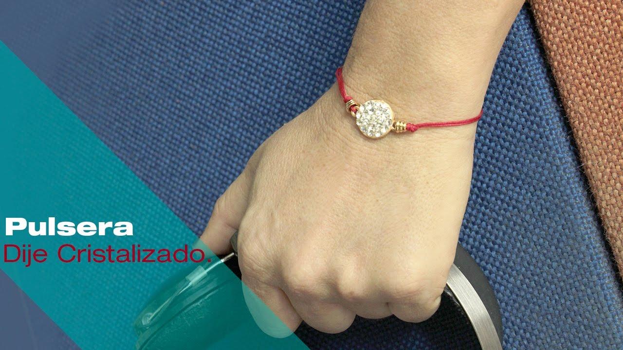 173f726d11e7 Aprende Cómo Hacer una Pulsera Dije Cristalizado e Hilo Chino Rápido y Fácil