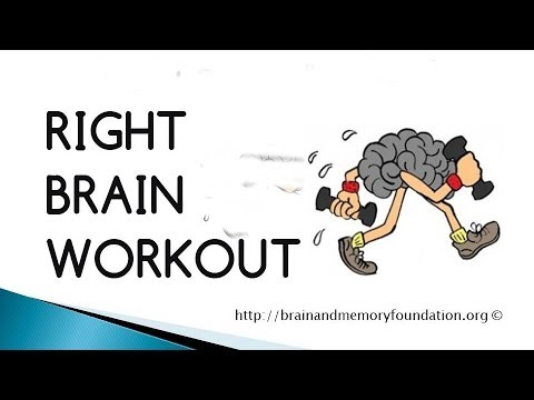Are you Left Brain? Get more creative with this Right Brain Workout. Improve your memory.