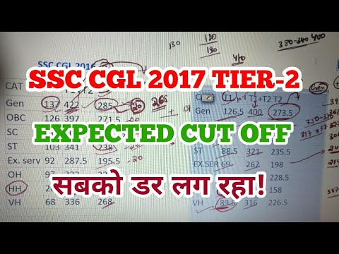 SSC CGL 2017 TIER-2 (Mains /T1+T2) Expected Cut off