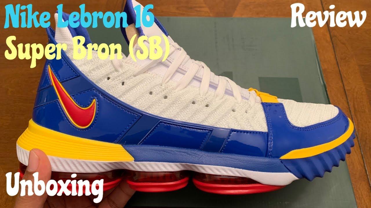 new style dd3ad 10516 Nike Lebron 16 Super Bron (SB) aka Superman. Unboxing w McFly KOF.