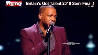 Lifford Shillingford sings Beatles Yesterday Britain's Got Talent 2018 Semi Final Group 1 BGT S12E08