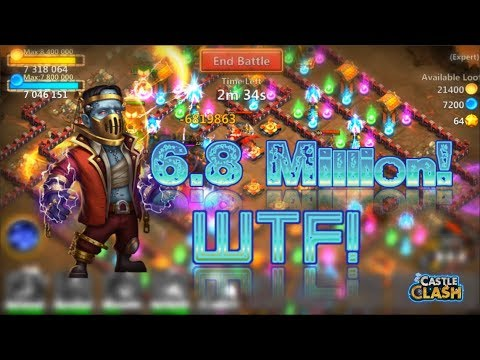 OMG!! 6 Million+ Damage From Creation-01!! Castle Clash