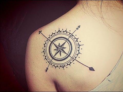 Tatuajes de brujulas youtube for Tatoo bussola